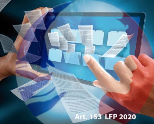 Article 153 de la loi de finances 2020